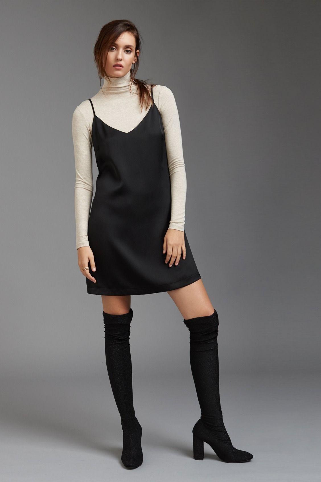 Pin By Grace Catherine On Fashion Dress Over Turtleneck Fashion Slip Dress [ 1694 x 1128 Pixel ]