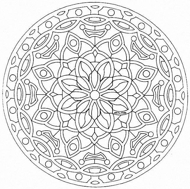 Coloring Pictures Mandala Display