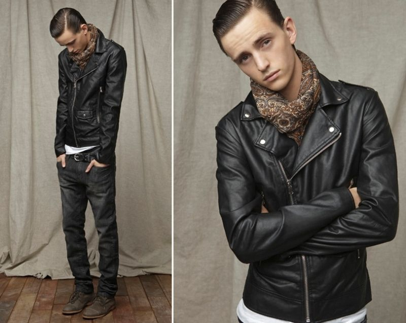 Alex Dunstan for Zara Young August 2011 Lookbook | Leather jackets ...