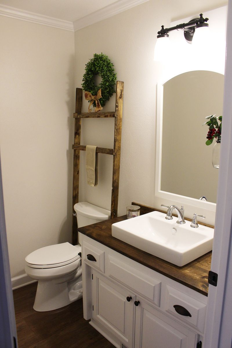 Budget Friendly Modern Farmhouse Half Bathroom Renovation