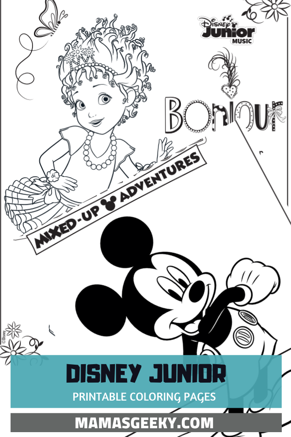 Free Printable Disney Junior Coloring Pages Disney Music Playlists Disney Coloring Pages Coloring Pages Kindergarten Coloring Pages