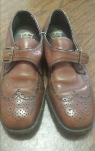 Vintage Florsheim Mens Oxford Style Dress Shoes Brown in Color with Buckle Sz 8 | eBay