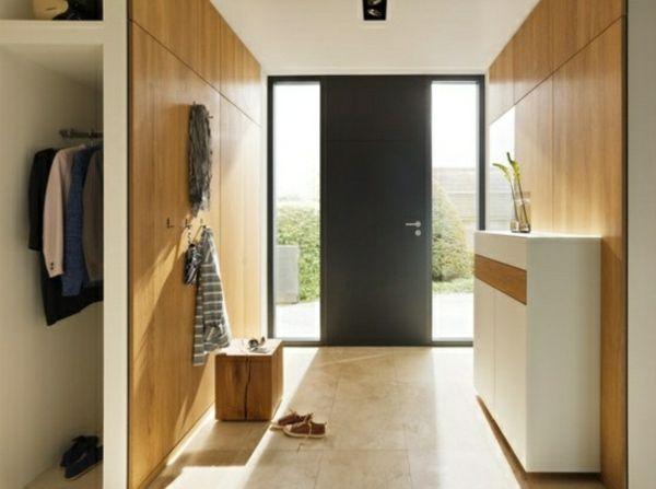 moderne flur gestaltung ideen holz wandverkleidung wohnung flur m bel raum und m bel. Black Bedroom Furniture Sets. Home Design Ideas
