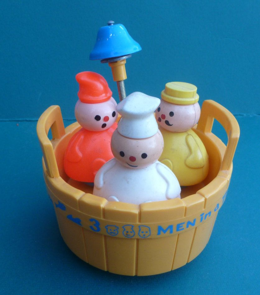 Vintage Fisher Price Original Three Men In A Tub Chime Toy Infant ...