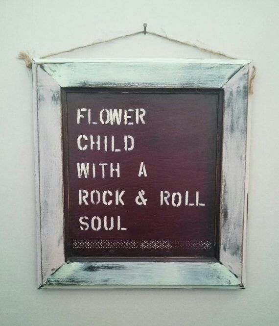Flower child with a rock n roll soul