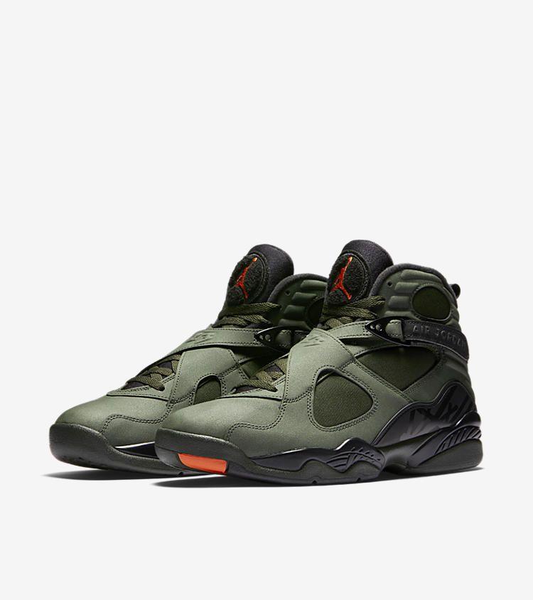 80cd1e8655b2 Nike Air Jordan 8 Retro  Sequoia  amp  Max Orange . Nike+ Launch GB. Nike  Air Jordan 8 Take Flight Sz 12 Olive Undefeated ...