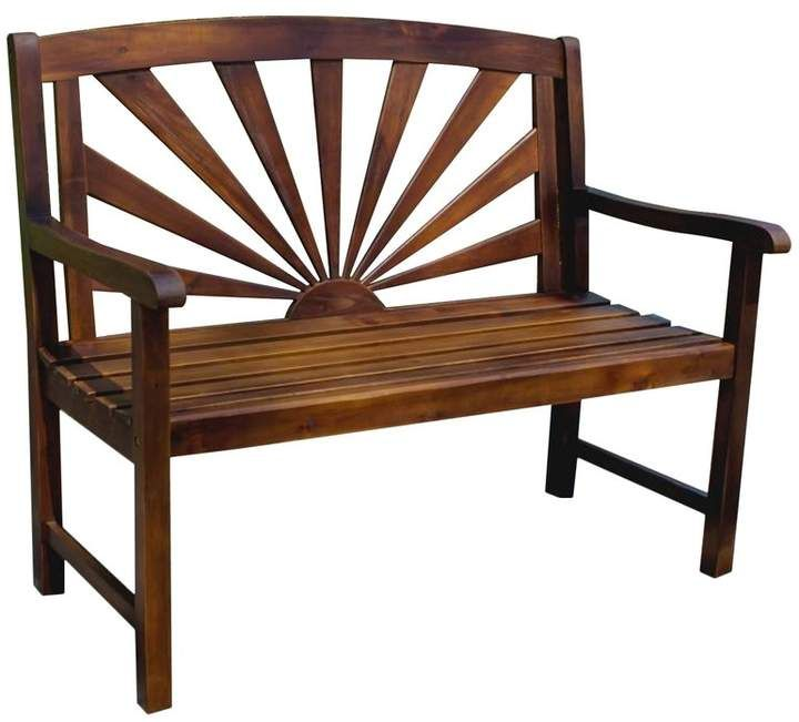 Fine Beachcrest Home Pine Hills Outdoor Wood Garden Bench In 2019 Machost Co Dining Chair Design Ideas Machostcouk