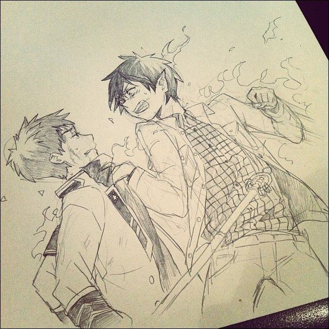Ao No Exorcist - Rin and Renzo - Sketch