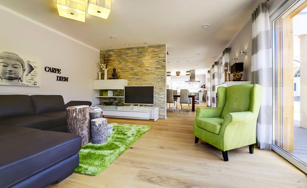 Wohnzimmer Im Plusenergiehaus Basic Line Jubile XXL Plus Fertighaus Von Haas Haus
