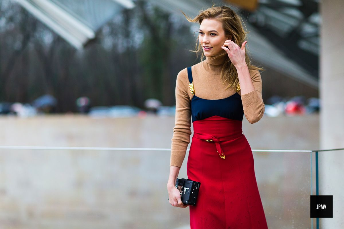 Wear a slip dress over a knit Five Cool Ways to Dress as Informed by Paris