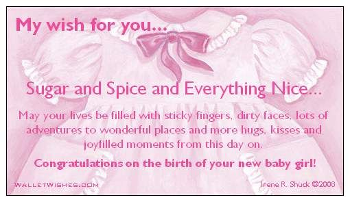 Congratulation Messages For New Born Baby Girl 2014 -   - Birth Of Baby Girl