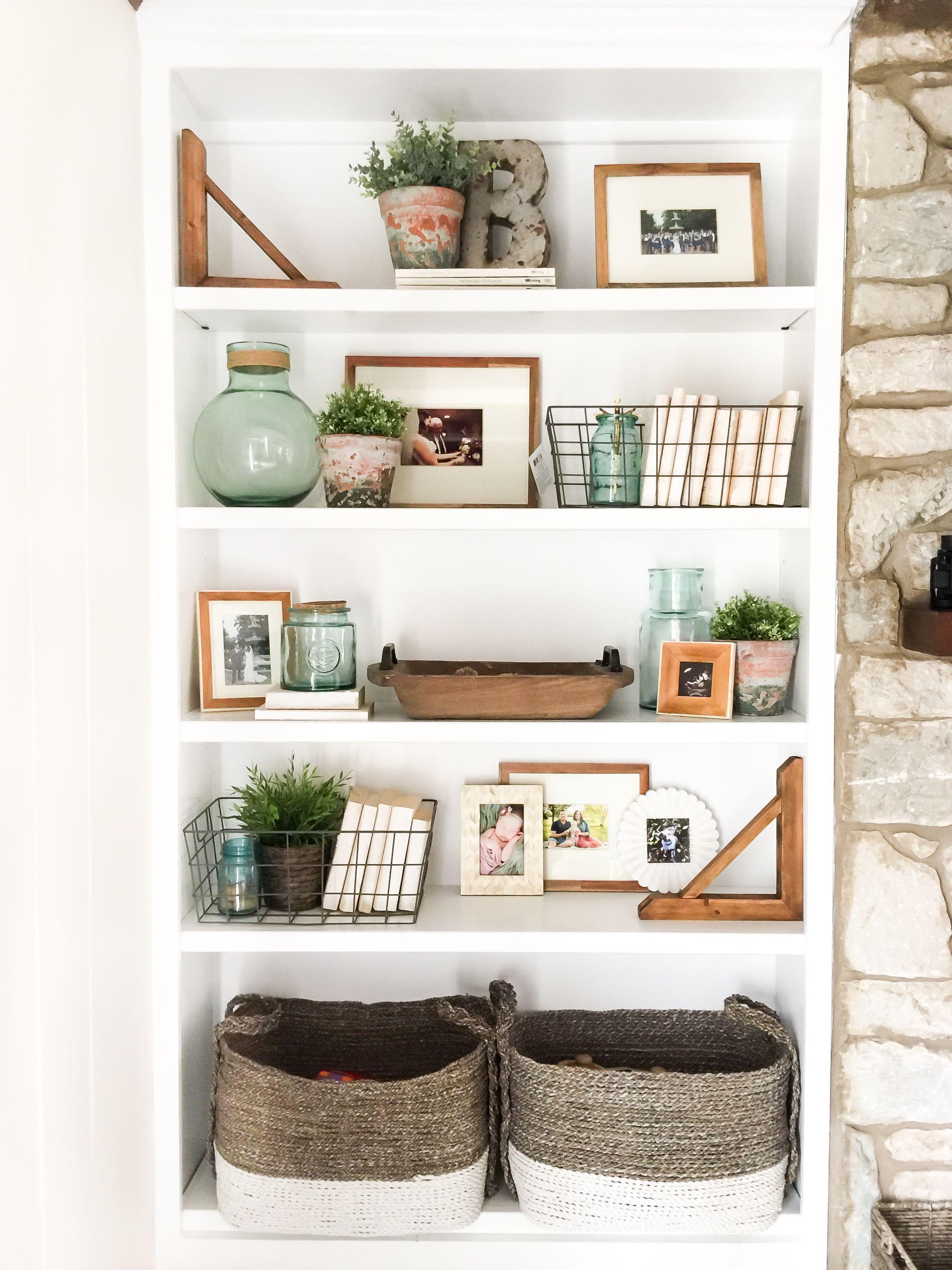 35 Essential Shelf Decor Ideas Living Room Shelves Bookcase Decor Home Decor Inspiration