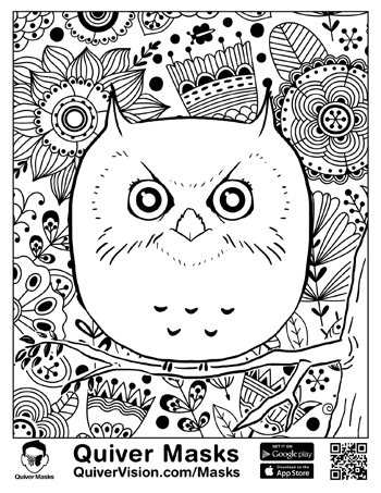 Masks Quiver 3d Augmented Reality Coloring Apps Coloring Pages Coloring Pages Inspirational Animal Coloring Pages