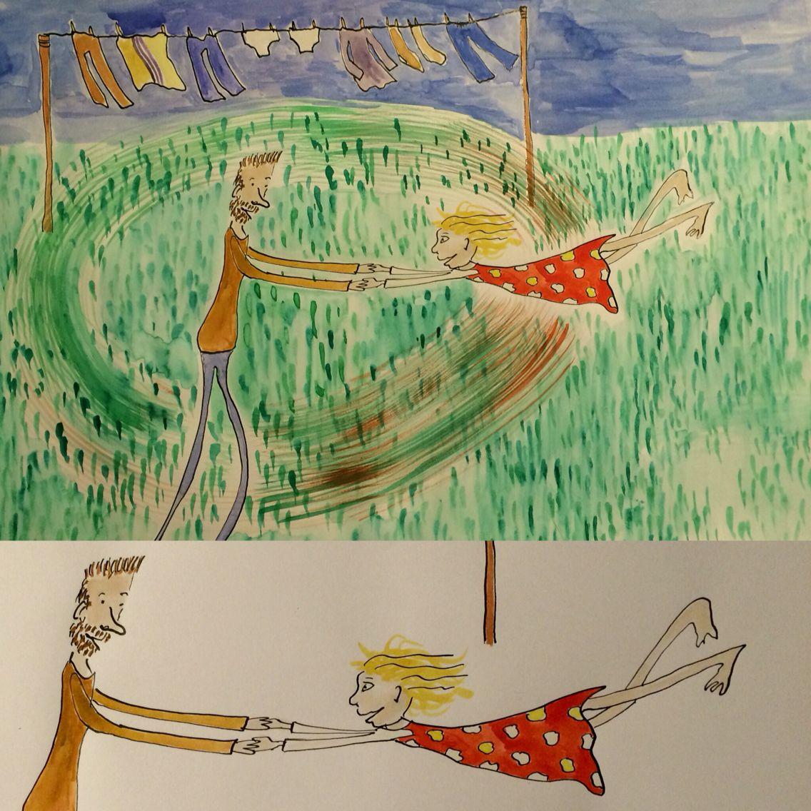Spin - opdracht via #illustrationfriday - suzanvandelft
