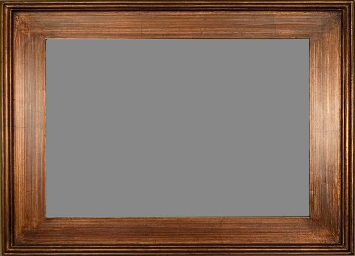 Plein Air Wall Frame With A Bronze Finish And Raised Outer