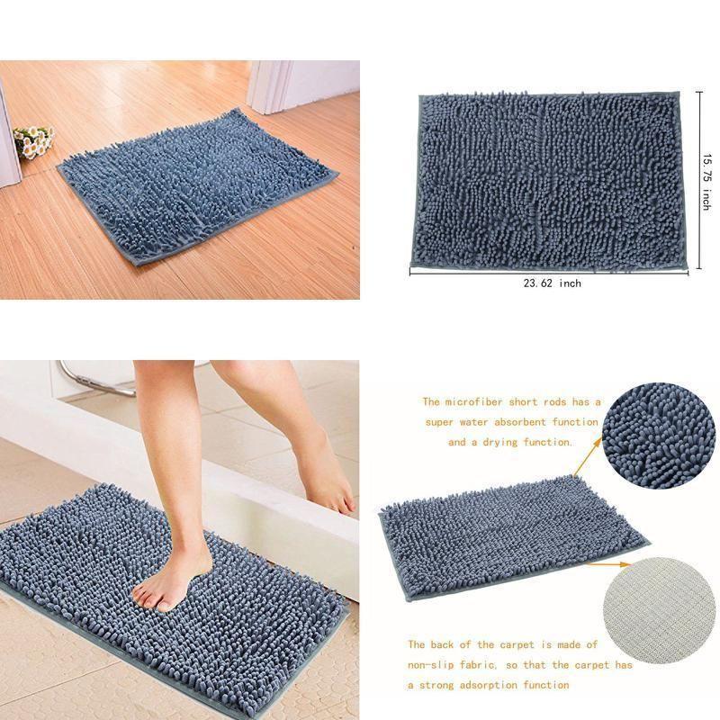 Rugs For Living Bath Room Microfiber Bath Rug Mat Carpet Non Slip