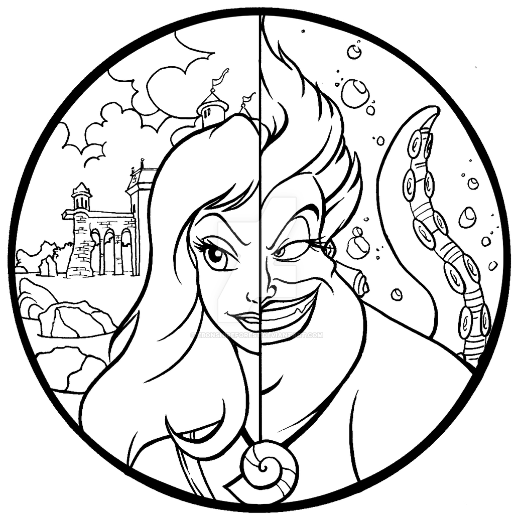 Commission Ursula And Vanessa Color Page By Ebonshireforest Disney Coloring Pages Disney Princess Coloring Pages Coloring Pages