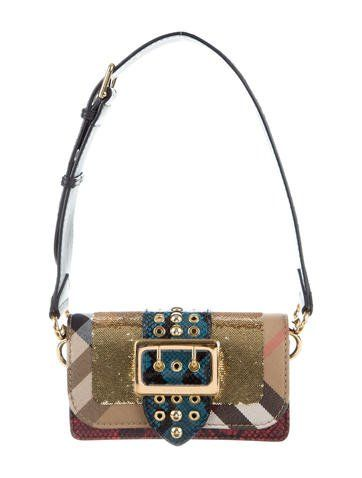 50eac2bb2ede Burberry House Check Snakeskin Patchwork Bag