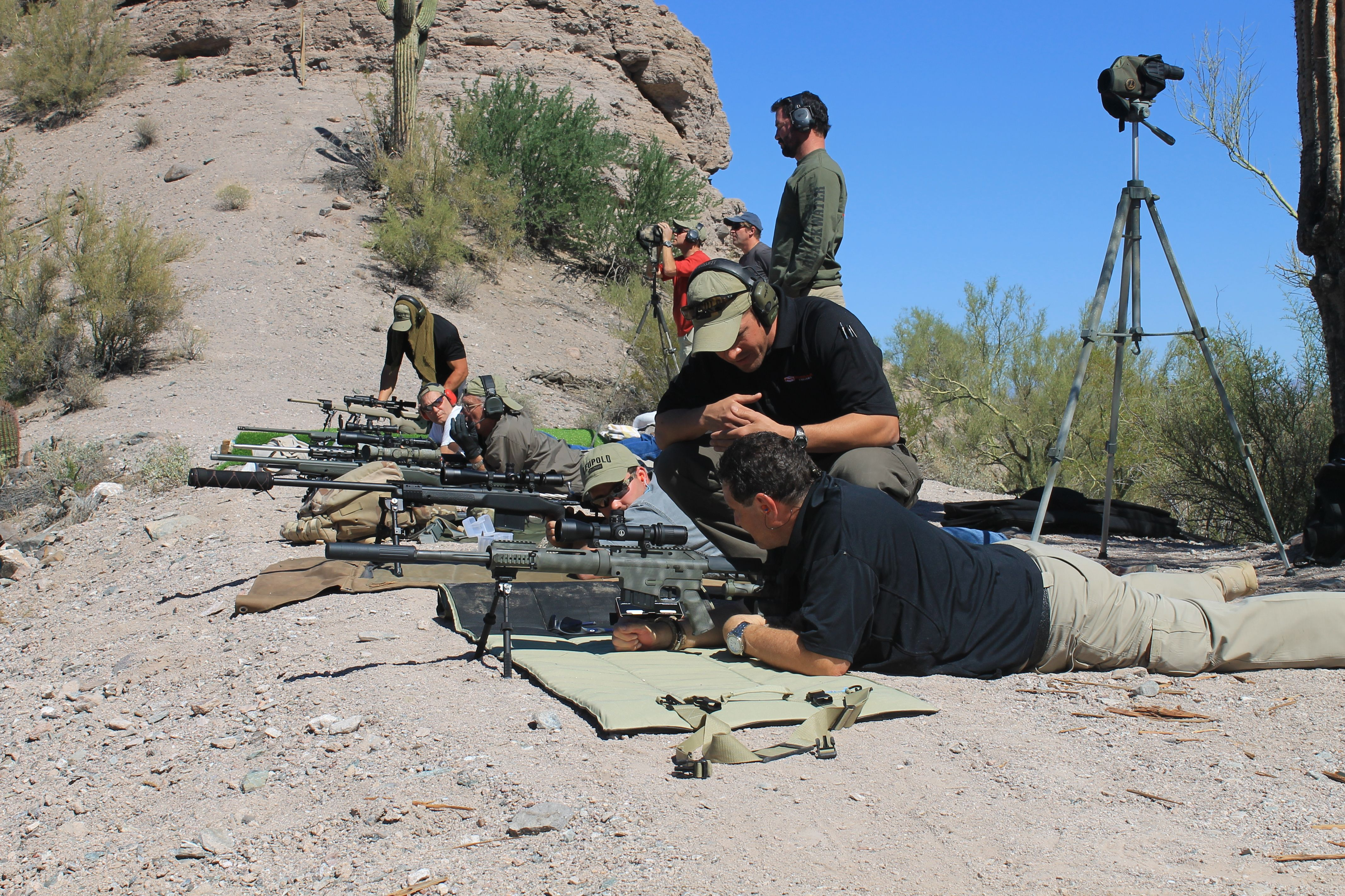 Precision rifle course we conducted at CowTown Range in Arizona.