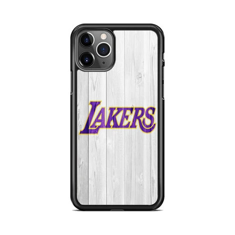 Los Angeles Lakers Nba Logo White Wood Wallpaper 3 Iphone 11 Pro Case Miloscase