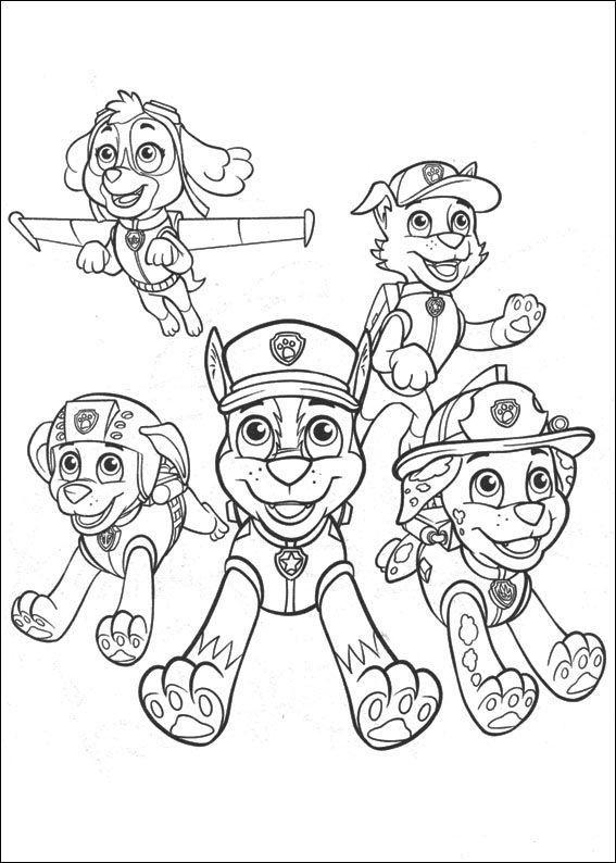 Dibujos para colorear de la patrulla canina | Kit imprimible ...