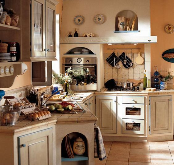 Perimetro una realt toscana cucine country kitchen diy organizing declutter pinterest - Cucine stile toscano ...