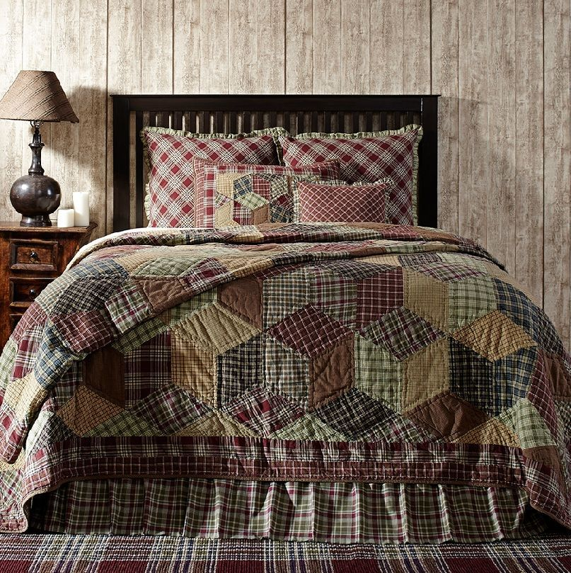 Jackson Tan, Green and Burgundy Quilts Bedding and Accessories by ... : burgundy quilts - Adamdwight.com
