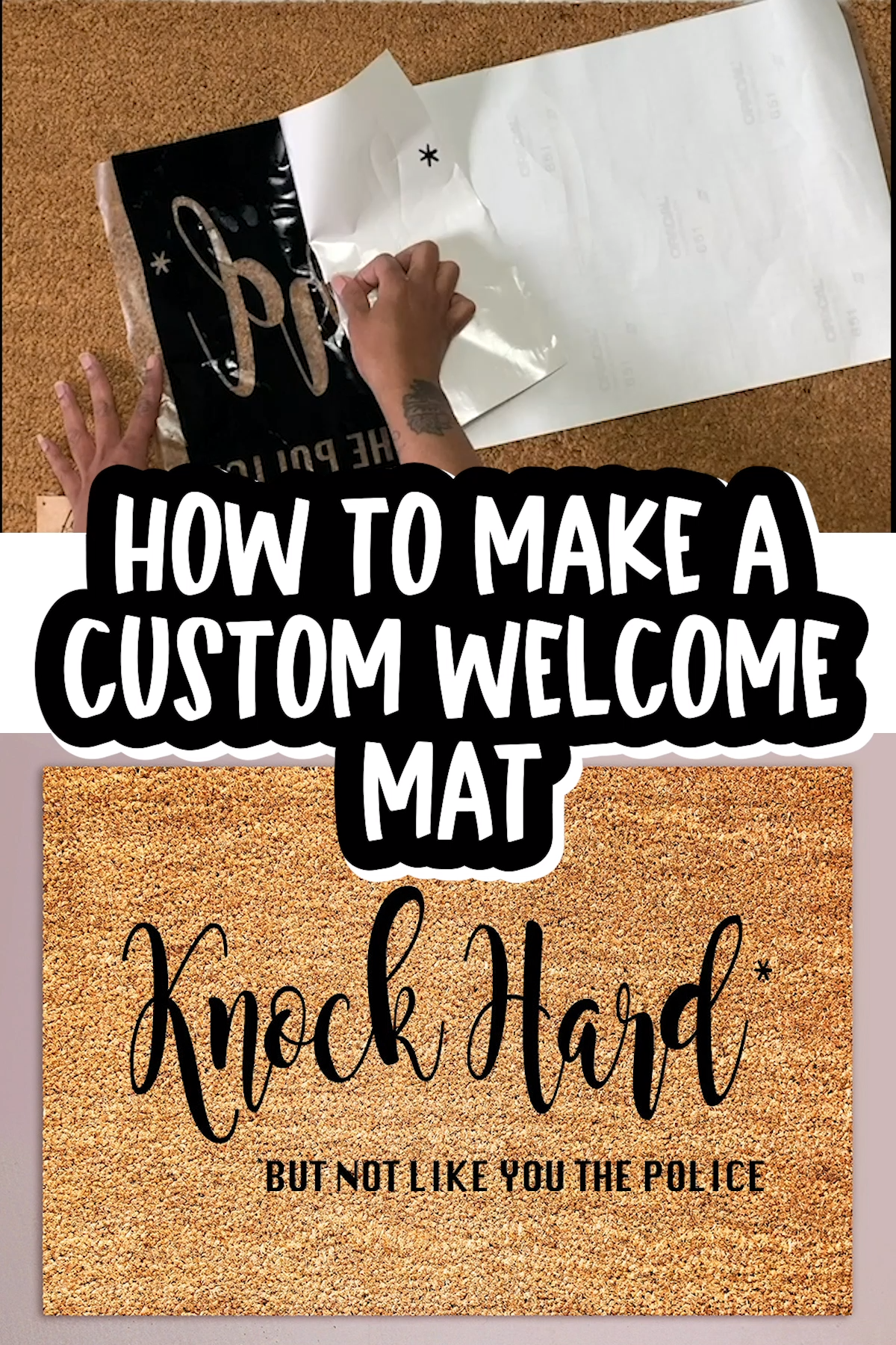 I was looking for the perfect outdoor mat to match my smart-mouthed personality. Then I remembered I can make Cricut stencils. #frontporches #doormats #diy #large #patio #cricut #diy