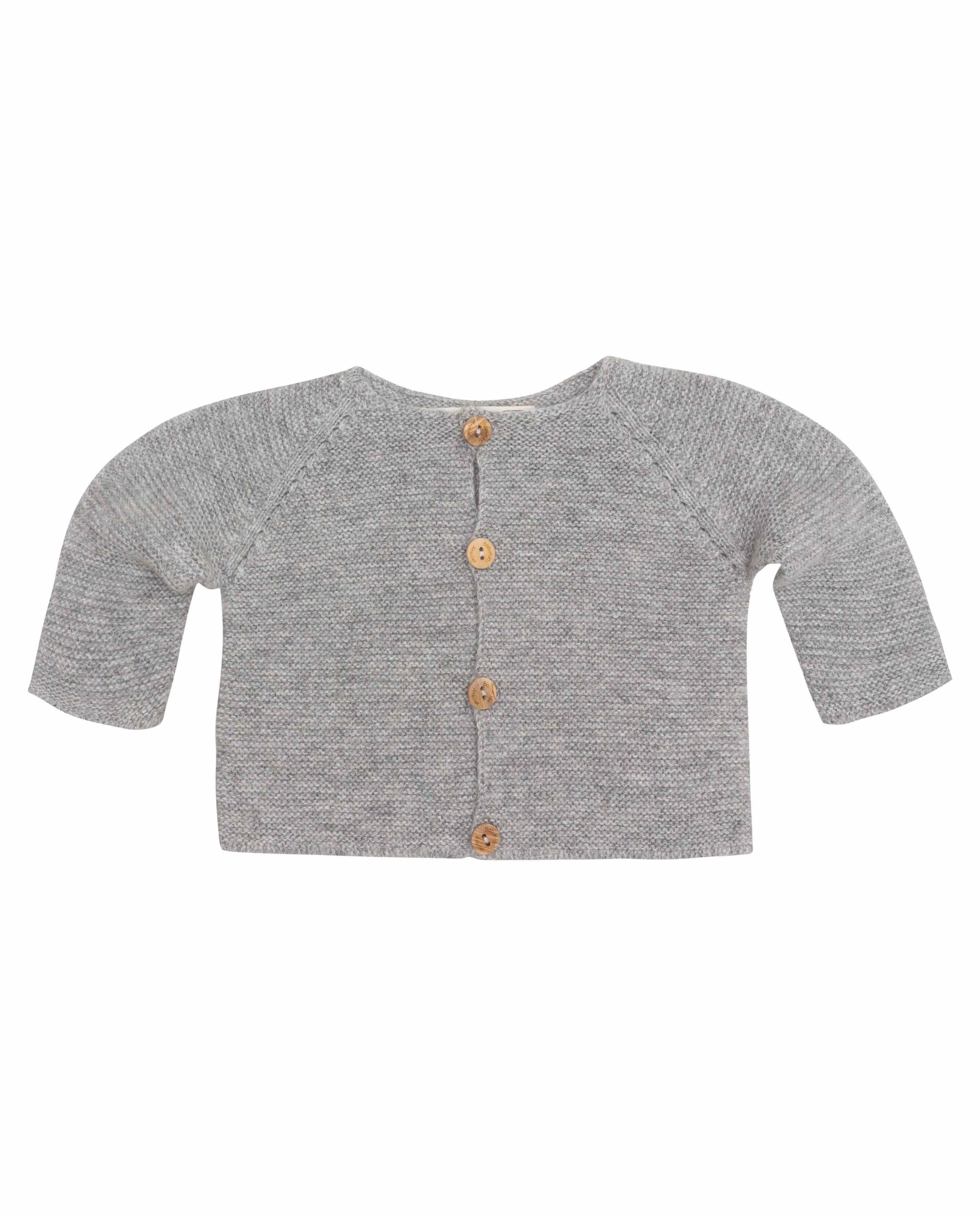 31989ee42 Chaqueta punto lana gris claro