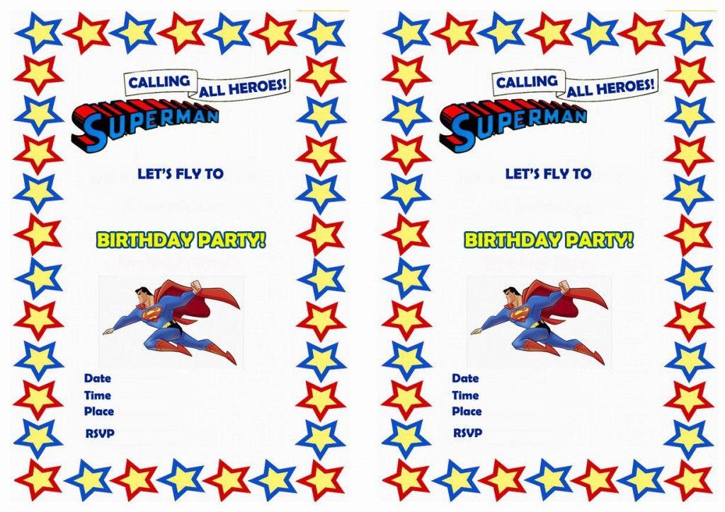 Superman Birthday Invitations u2013 Birthday Printable Invitations - birthday template invitations