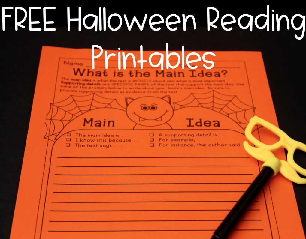 halloween reading ideas graphic organizers covering main   halloween reading ideas graphic organizers covering main idea cause and effect story