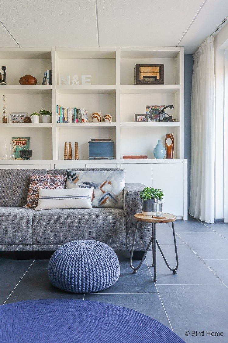 Nienke en Elwin interieurontwerp nieuwbouwwoning woonkamer kast op ...