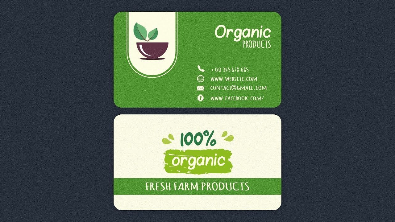 Organics Business Card Design In Affinity Designer Business Card Design Card Design Cards