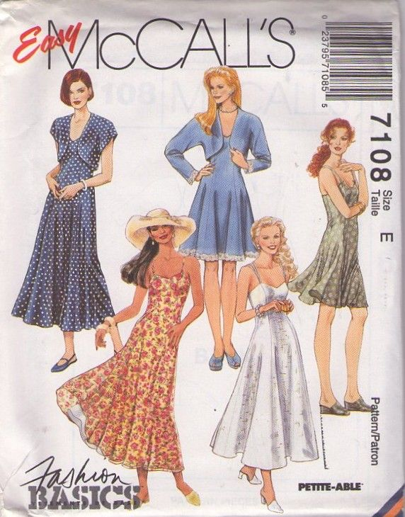 Momspatterns Vintage Sewing Patterns Mccall S 7108 Retro 90 S Sewing Pattern Beautiful Easy To S Skirt Patterns Sewing Vintage Summer Dresses Pattern Fashion