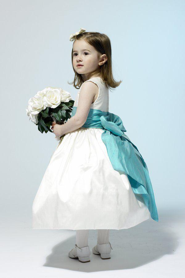 Tiffany blue flower girl dresses | Life | Pinterest
