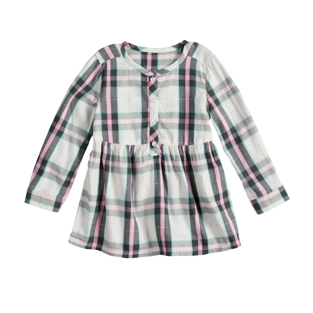3349e7dc5e Baby Girl Jumping Beans® Plaid Henley in 2019 | Products | Jumping ...