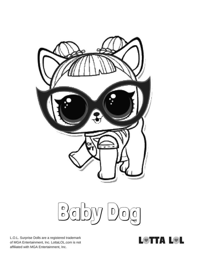 Baby Dog Coloring Page Lotta Lol Lol Surprise Series 3