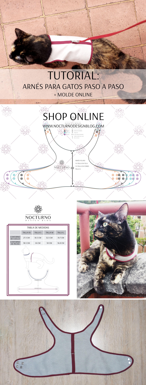 Costura paso a paso: cómo coser un arnés para gatos. Molde en PDF ...