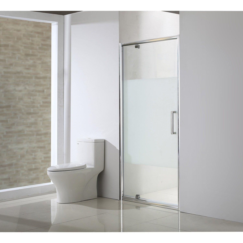 Porte De Douche Pivotante 90 Cm Serigraphie Quad Sensea Shower Doors Toilet Shower
