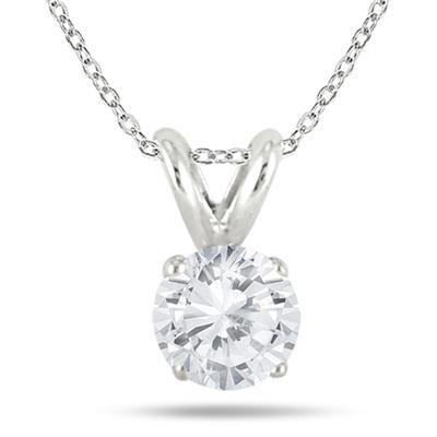 1 3 Carat Diamond Solitaire Pendant In 925 Sterling Silver Solitaire Diamond Pendant Solitaire Pendant Diamond