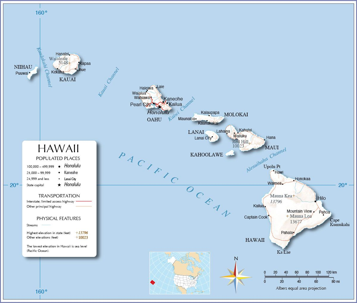 Traveling To The United States: Maps Of Hawaii Provide Information On The Different Cities