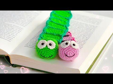 Photo of Simple bookmark bookworm – crochet | #School start | #DIY