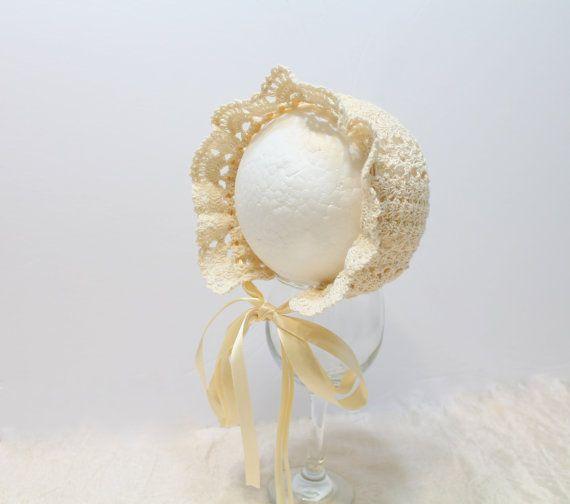 Crochet bonnet. Beanie. Baby Hat.Photography by HandmadebyNadiyaK