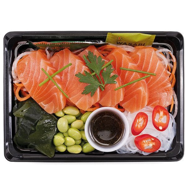 Wholesale retail fresh Japanese sushi boxes bento packs wraps  ... ❤ liked on Polyvore featuring food, fillers, food and drink, comida and еда