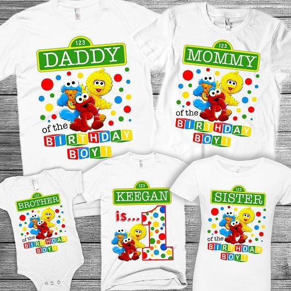 Sesame Street Birthday Shirt Personalized Boys Sesame Street Birthday Shirt Sesame Street Birthday Shirt For Boys