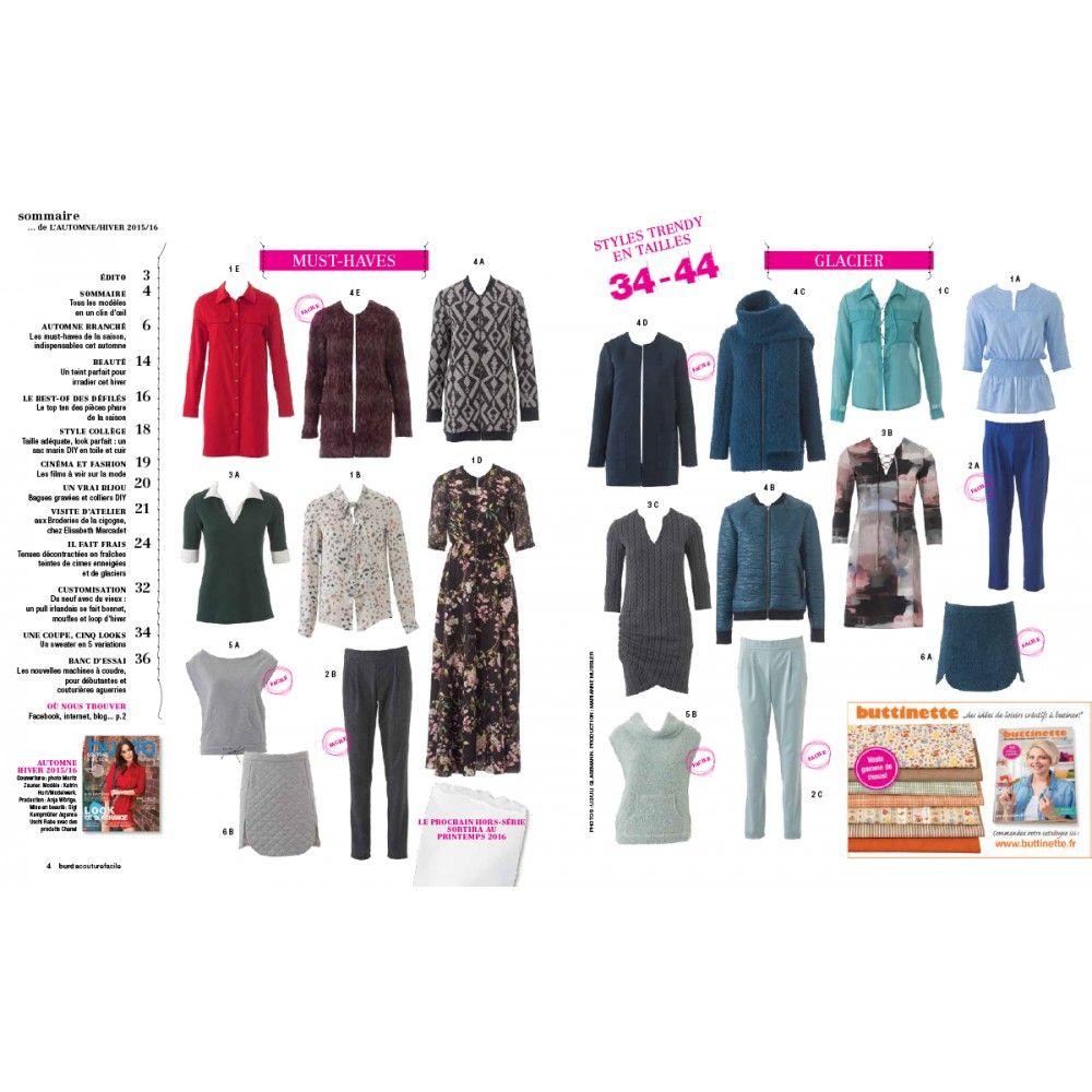 Burda Style HS Couture facile Automne-Hiver 2015.                                                                                                                                                                                 Plus