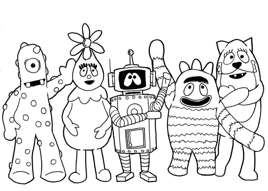 Yo Gabba Gabba Coloring Pages Yo Gabba Gabba Coloring Pages Coloring Pages To Print Nick Jr Coloring Pages Coloring Birthday Cards Yo Gabba Gabba