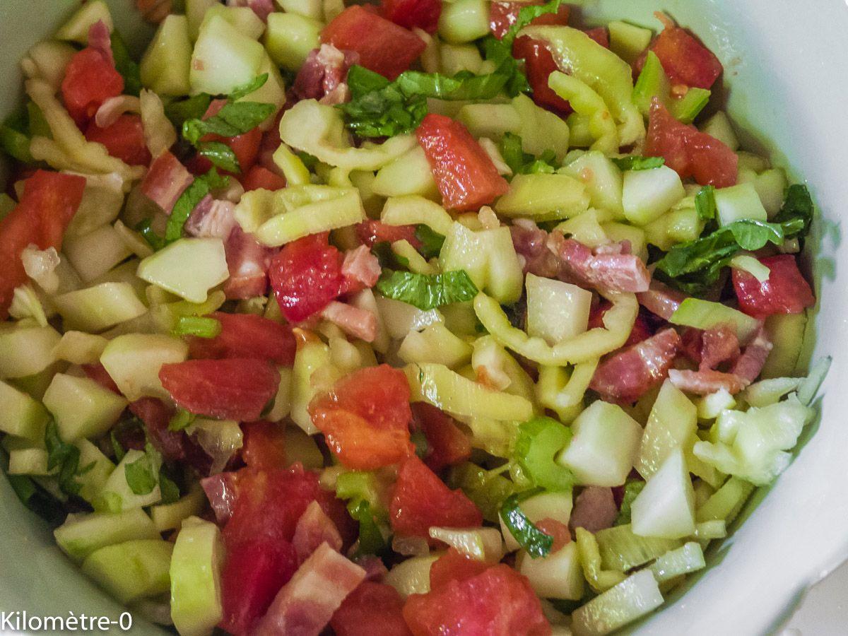Photo de recette de salade légère de Kilomètre-0, blog de cuisine réalisée à partir de produits ...