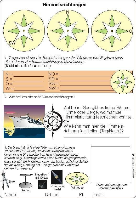 Kompass basteln - Himmelsrichtungen   Kinder Piraten   Pinterest ...