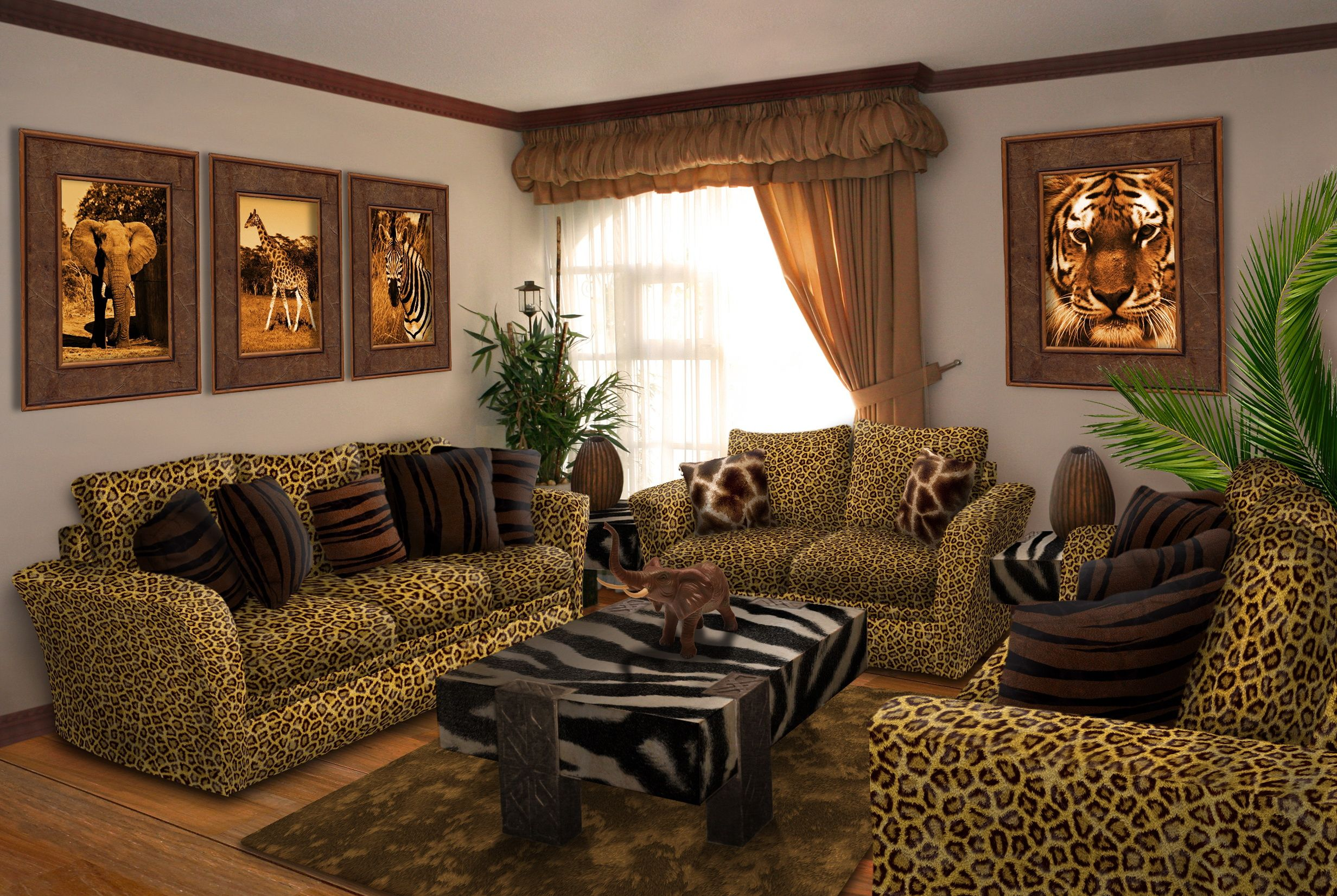 Safari themed Living Room Decor - Favorite Interior Paint ...